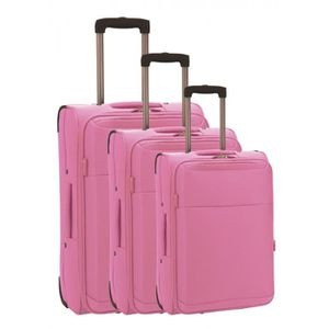 SET DE VALISES Set de 3 valises chariot classic confort rose