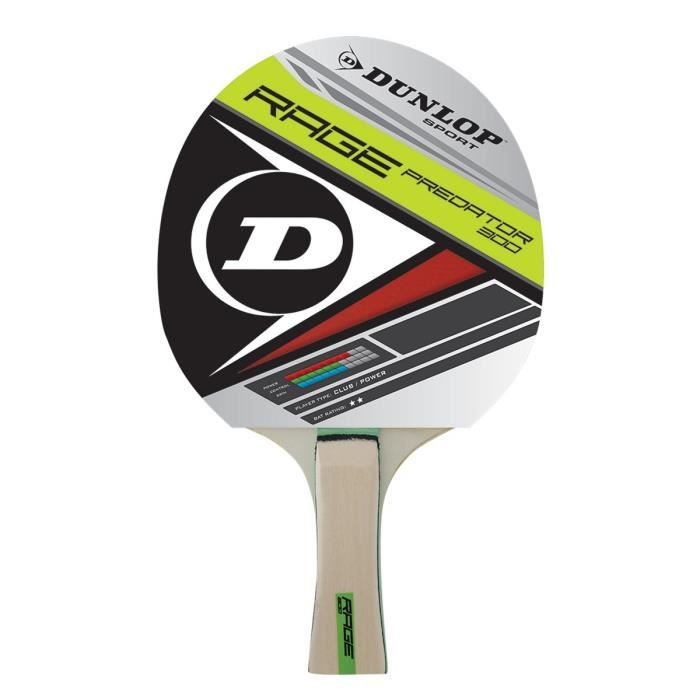 DUNLOP Raquette de tennis de table Rage Predator 300