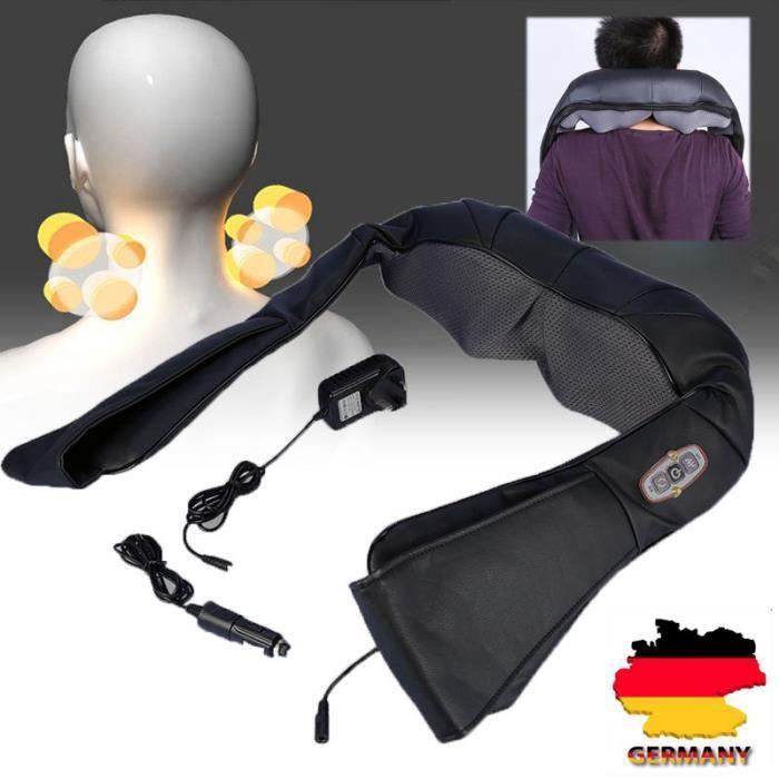 Appareil de massage pour le cou les épaules le dos Masseur électrique U forme noir