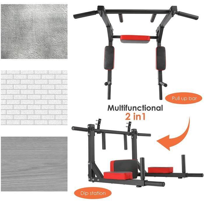 FEMOR Barre de Traction à Montage Mural Barre d'appartement Barre d'Exercice de Traction Gym Entraineur