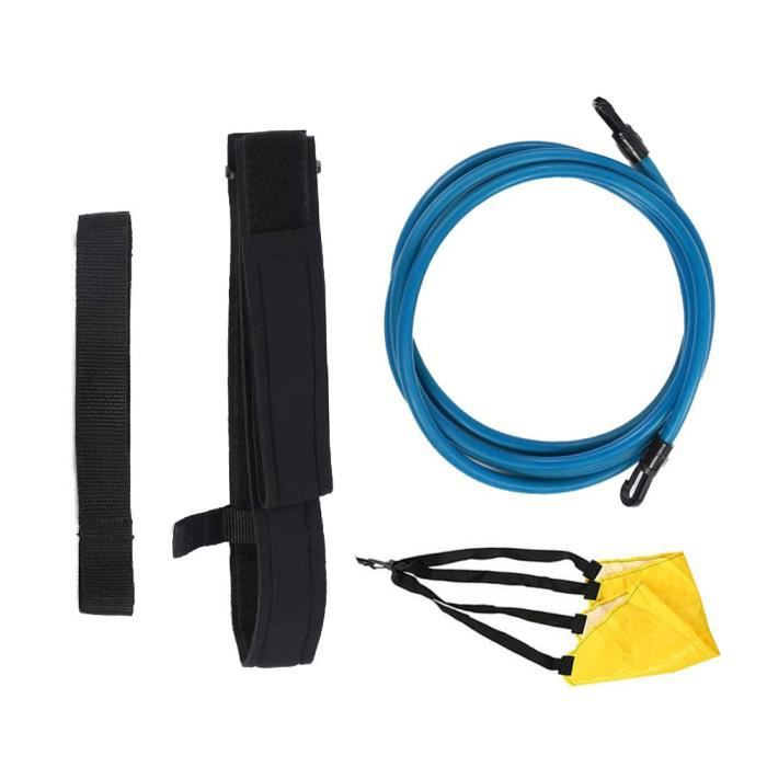 Kit de Ceinture de Natation Bandes de élastique de Résistance de plongée corde de traction de piscine Bleu