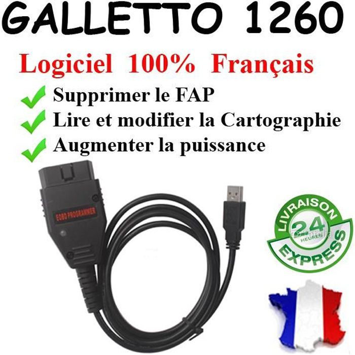 GALLETTO 1260 EOBD Logiciels ECUSAFE VOLTA - Reprogrammation calculateur moteur by Mister Diagnostic®