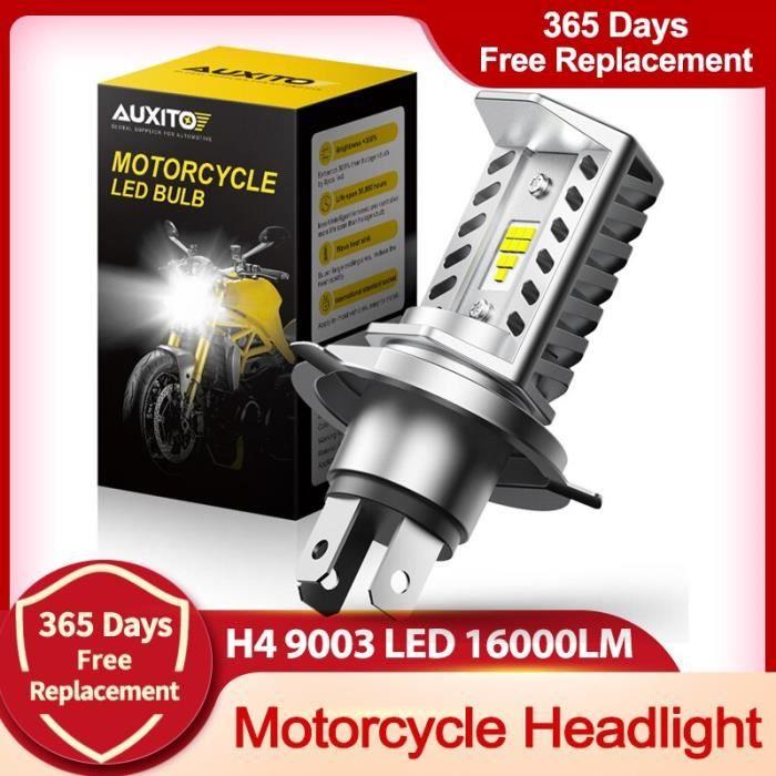 phare de Moto blanc Super lumineux 9003 K, ampoules Led H4, 12V, 16000LM, accessoires, 6500 H4-6500K White -WM358