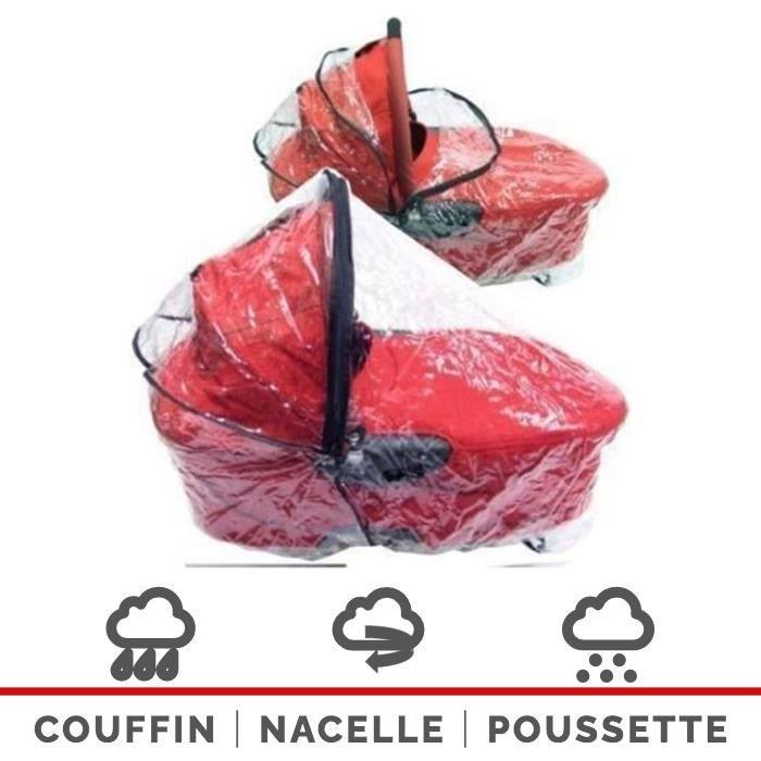Habillage Pluie Universel Pour Couffins Nacelles (Larges) Poussettes Landaus - 250 Microns d'Epaisseur