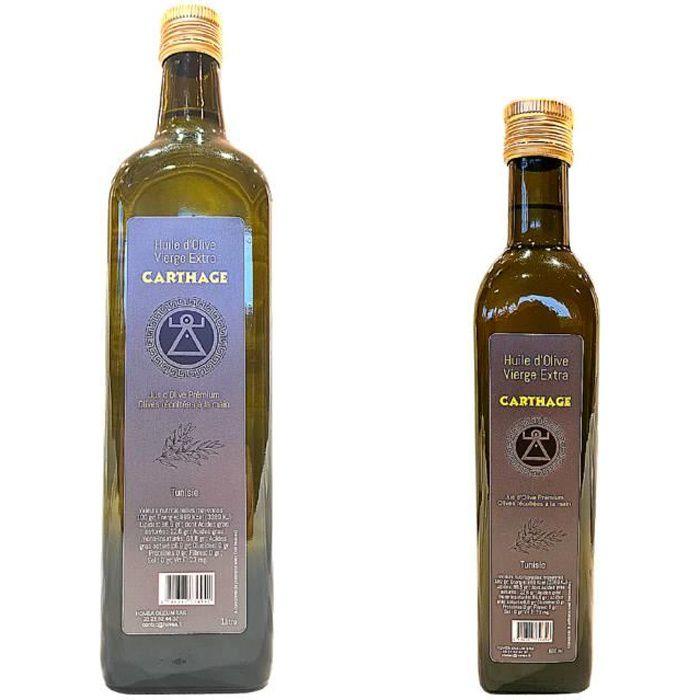 Huile d'Olive Vierge Extra Carthage Oleum 6 bouteilles x 1 litre
