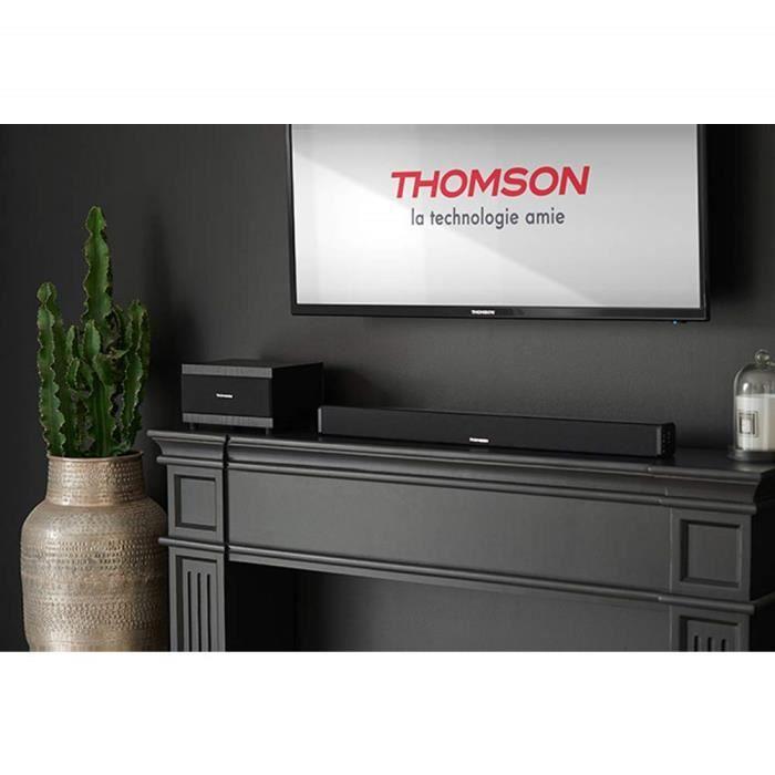 Thomson sb50bt – Pack avec Barre de Son et subwoofer (Bluetooth, Système 2.1, 100 W, entrée RCA)