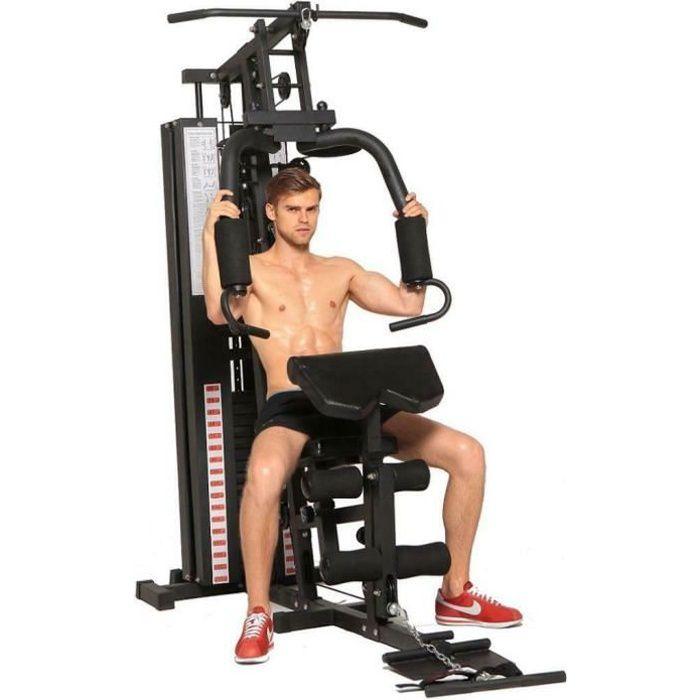 Dione HG3 - Station de fitness - Multi-Gym - Station de musculation - Avec poids de 45 kg - Extensible jusqu'à 100 kg - Homegym