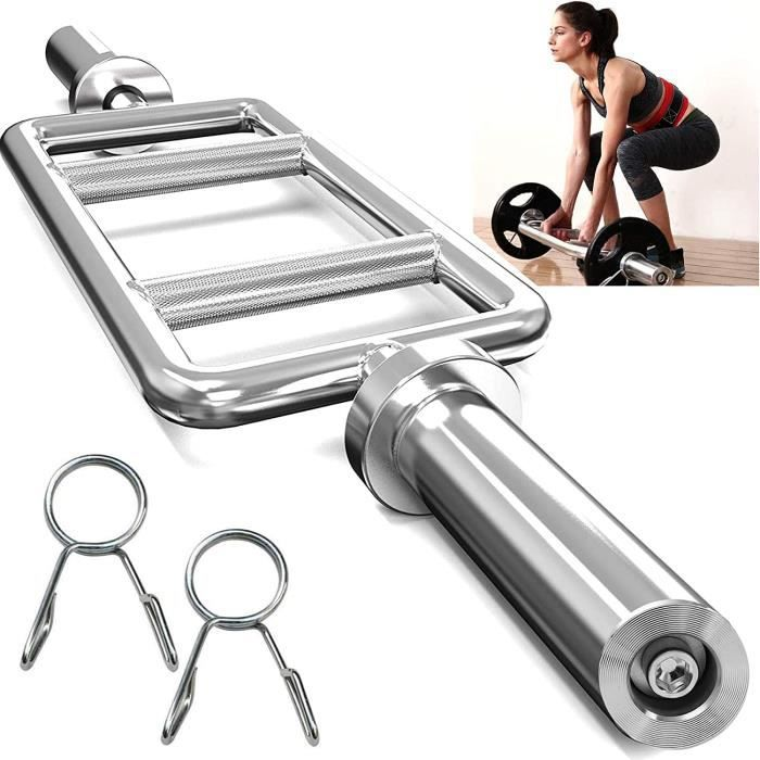 BANC DE MUSCULATION 34- Olympique Haltere Bar,Barre de Triceps,Professionnelle Curl Bar,Chrom&eacutee et avec Molet&eacutee 388