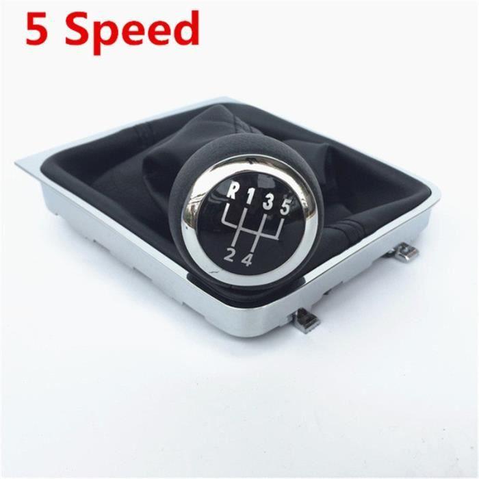 Pièces Auto,Pour Volkswagen VW Passat B6 2005 2012 accessoires de style de voiture pommeau de levier de vitesse - Type 5 Speed Boot