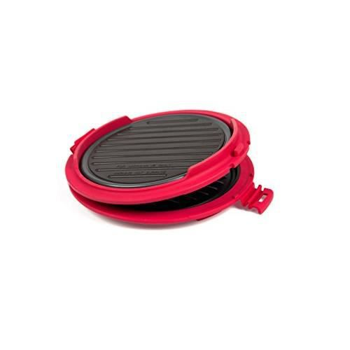 B.BAD 70120 Grill Micro-ondes rond Noir-Rouge B.Bad_70120