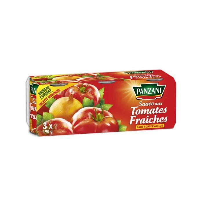 PANZANI Sauce Tomate fraîche - 3x190 g