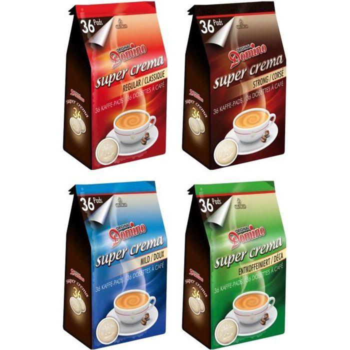 DOMINO Café Mix 4x36 dosettes type SENSEO