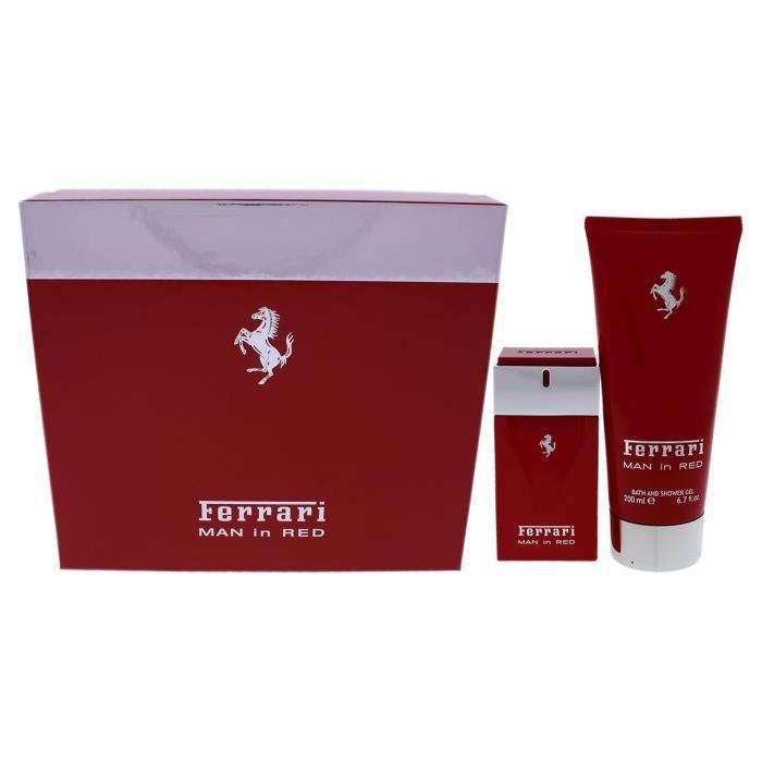 Ferrari Man In Red by Ferrari for Men - 2 Pc Gift Set 1.7oz EDT Spray, 6.7oz Bath and Shower Gel