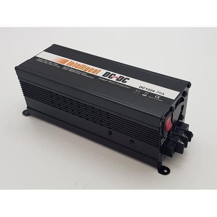 Convertisseur Survolteur de 12V A 24V 20A