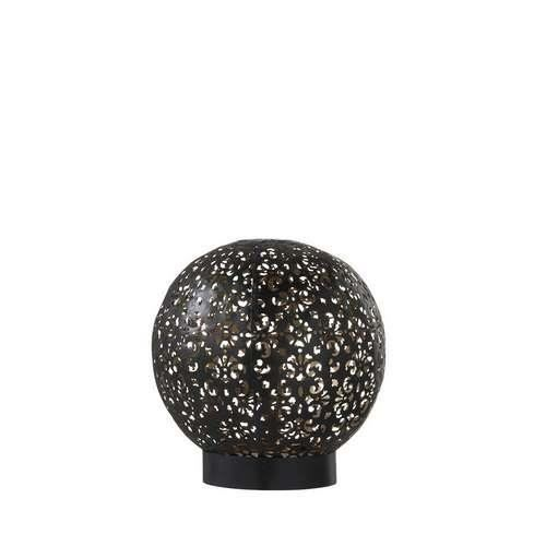 Petite lampe orientale à poser en métal 18 cmx18 cmx18 cm Noir
