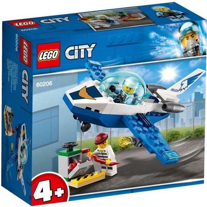 LEGO® City 4+ 60206 - Le jet de patrouille de la police - Jeu de construction