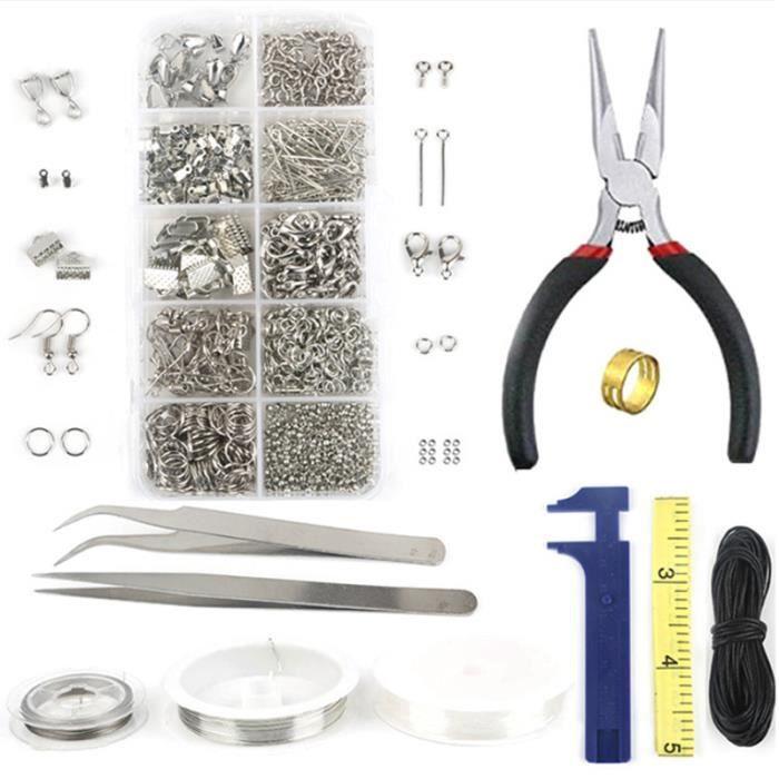 NEUFU Kit de Outils Creation Bijoux Pinces+Accessoires bijoux+Fils Etc