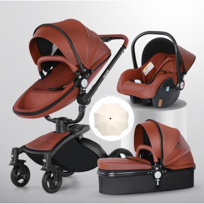 OFELI ® 3 En 1 Bébé Poussette Haute Paysage Couchage Panier Chariot Europe Design avec Siège Auto Bateau avec Parapluie
