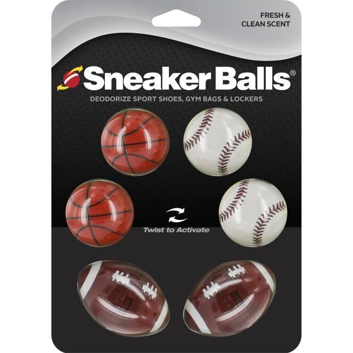 Lot de 6 boules désodorisantes Sneakerballs Sport - noir - TU