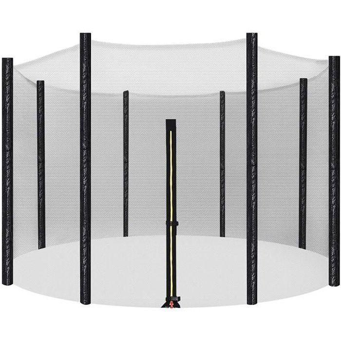 SONGMICS Filet de remplacement de trampoline - Ø 305 cm - Filet de sécurité pour 8 poteaux droits - Filet rond - STN10FT