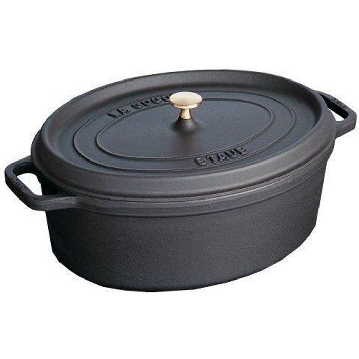 Staub Fonte - 1101125 - Mini Cocotte - Ovale - Noir Mat - 11 cm