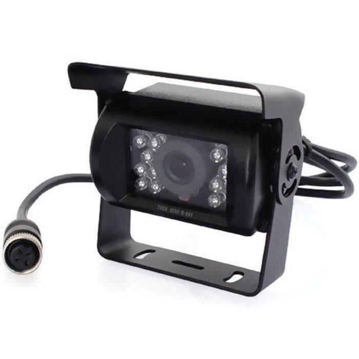 TD® Caméra de Recul stationnement Fiche à 4 broches pour voiture camion Noir - Radar noir recul prise 4 broches pour voiture