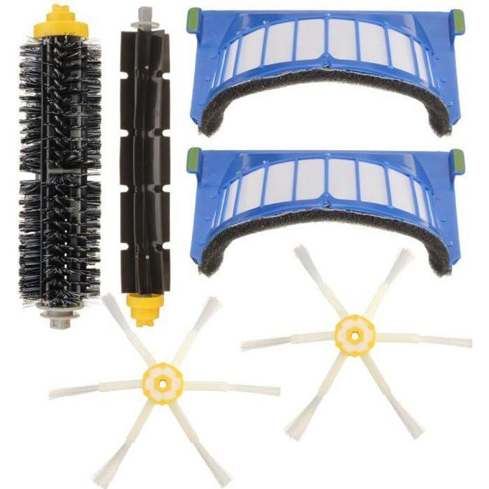 NEUFU 6PCS Kit De Filtre à Brosse Rechange Accessoire Pour Robot Roomba 600 Series 620 630 650 660