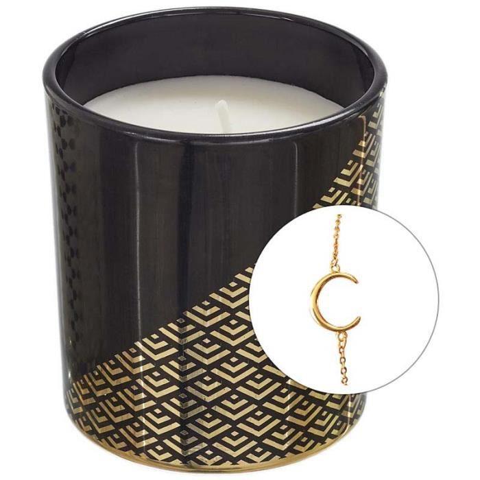 Bougie parfumée avec bijoux surprise 8 cm Noir et or Noir Et Or