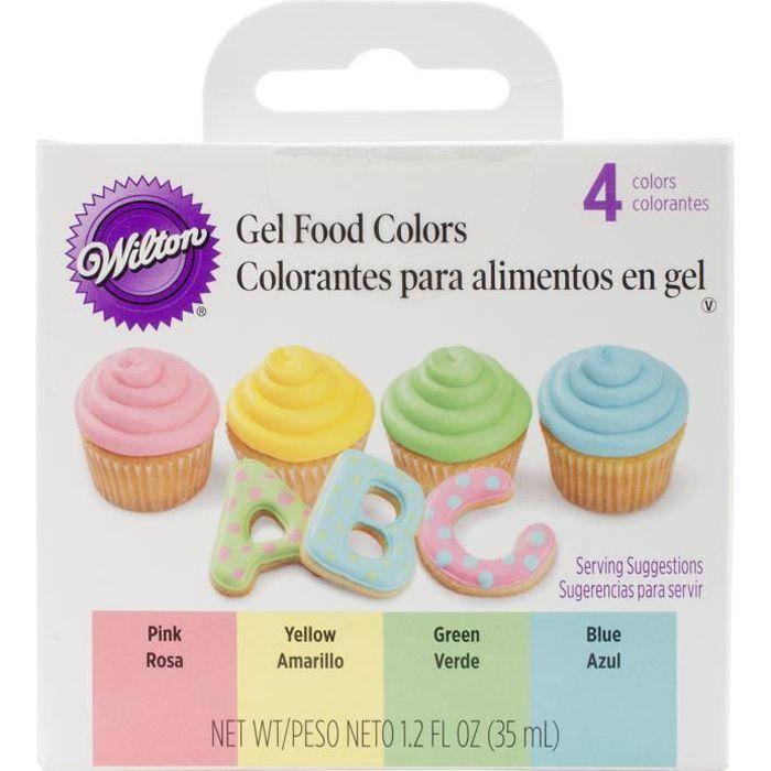 Colorant alimentaire gel mis 4/Pkg-P?ques