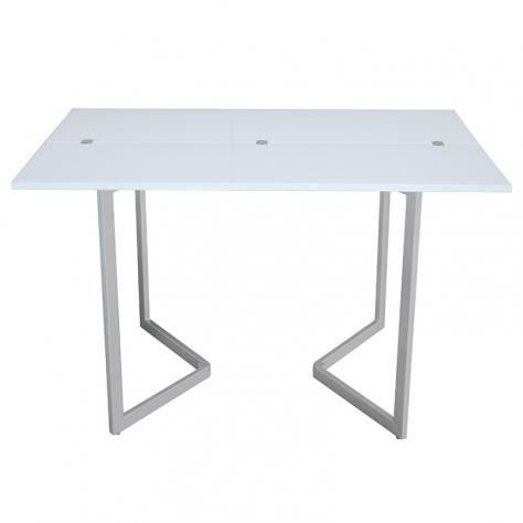 Table blanche laquee maison design - Table console extensible blanche ...