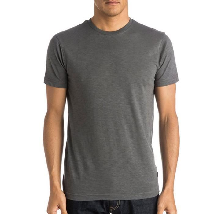 T-SHIRT Tee-shirt Everyday Slub gris Homme Quiksilver. Manches ...