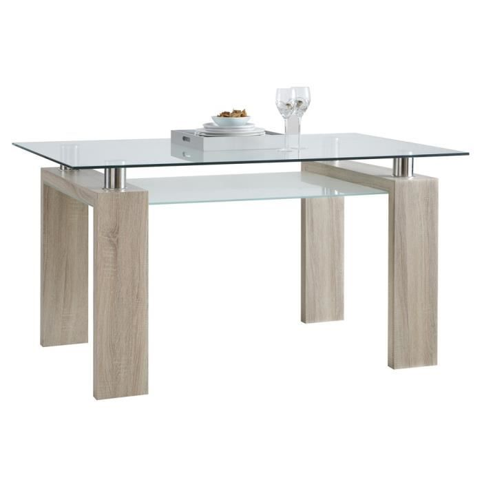 Table swithome cyber ch ne brut achat vente table for Table basse chene brut