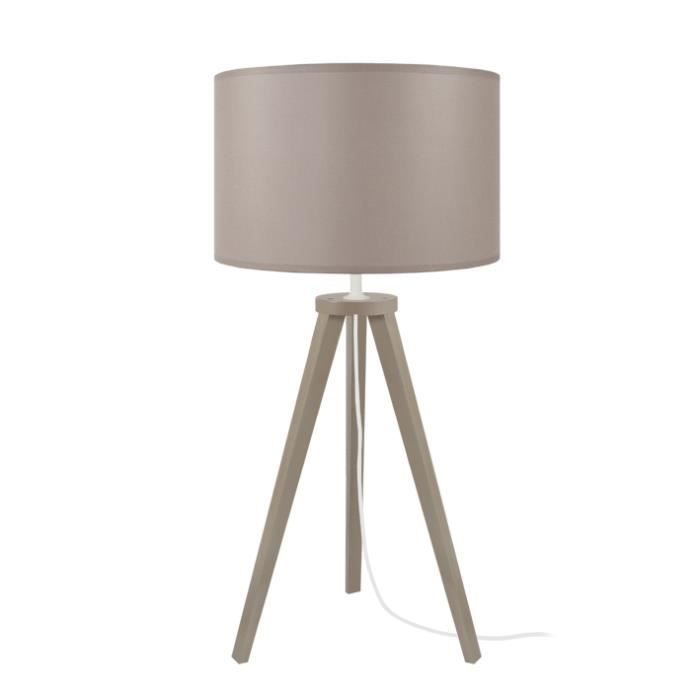 LAMPE A POSER Lampes MALMO TOSEL Taupe - Dimensions: 30 x 55 cm-