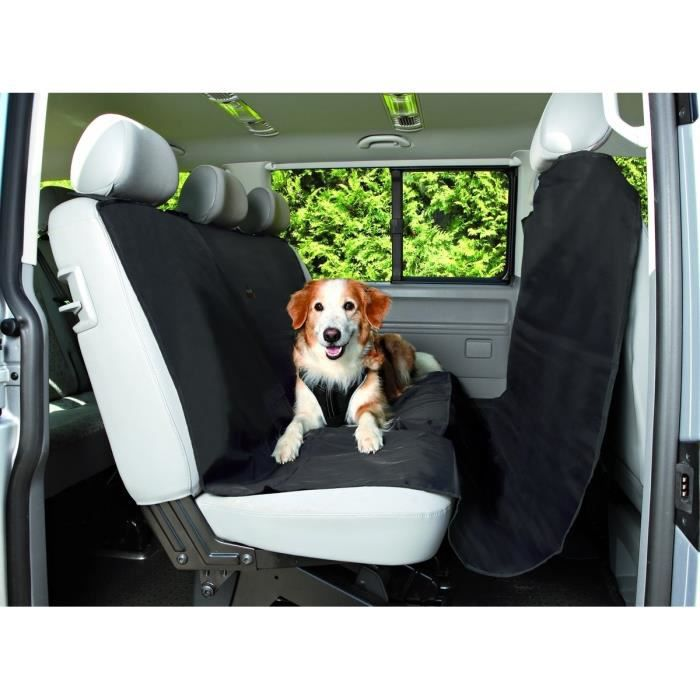 trixie prot ge si ge de voiture 1 45 2 15 m noir pour chien achat vente tapis de transport. Black Bedroom Furniture Sets. Home Design Ideas