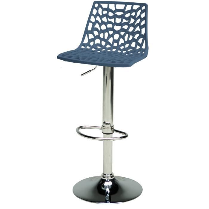 tabouret de bar spider bleu achat vente tabouret de. Black Bedroom Furniture Sets. Home Design Ideas
