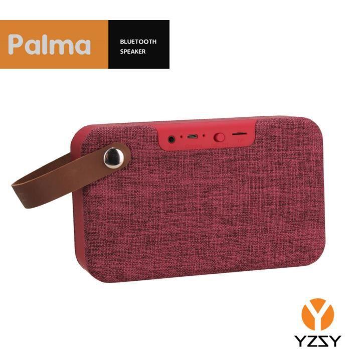ENCEINTE NOMADE YZSY Deluxe Haut-parleur Bluetooth - Palma Bordeau