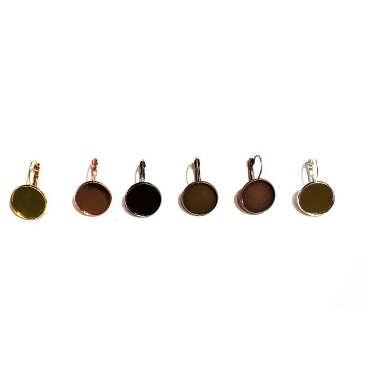 Neuf 50 clous d/'oreilles tiges 10mm plateau 6mm couleur bronze