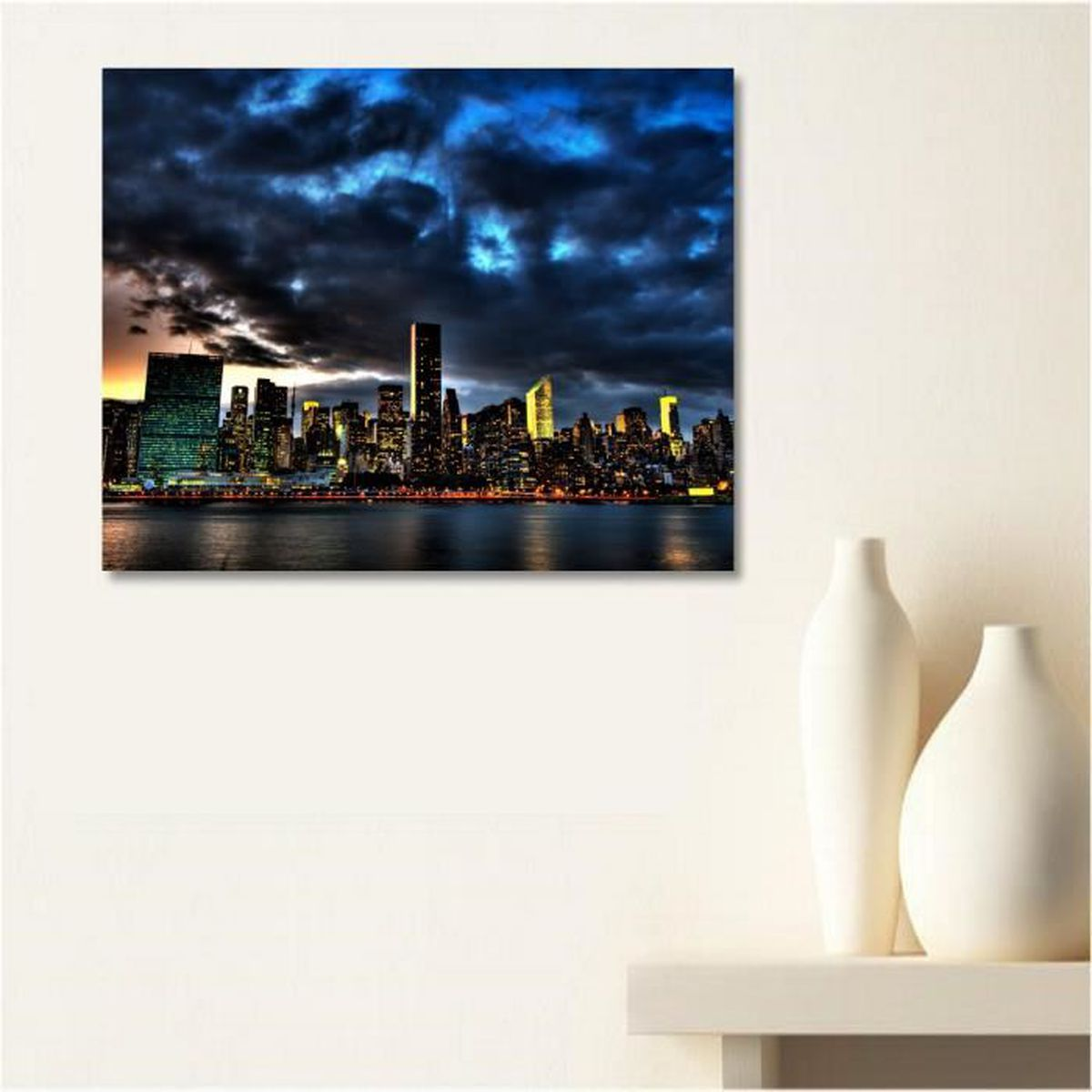 Tableau toile city new york achat vente tableau toile - Tableau new york pas cher ...