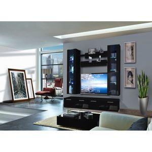 MEUBLE TV MURAL Ensemble meuble TV murale - Ledge IV - 2 vitrines