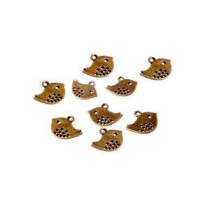 Perles Breloques bronze - 15 Breloques joli oiseaux - Lon