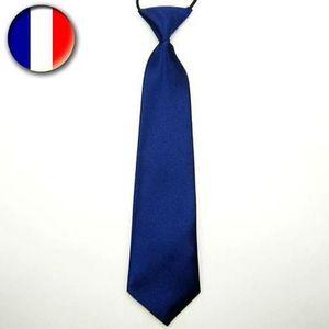 CHEVAUX bleu sur bleu marine cravate