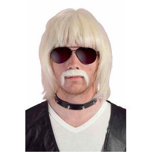 Perruque professeur avec moustache et lunettes mardi gras