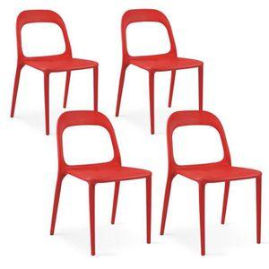 FAUTEUIL JARDIN  Chaise de jardin design Rouge
