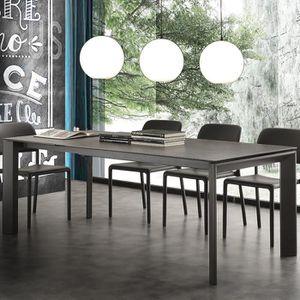 TABLE À MANGER SEULE Table extensible 10 personnes en céramique anthaci