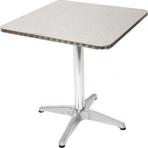TABLE DE JARDIN  Table de jardin en Aluminium rectangulaire,  Dim :