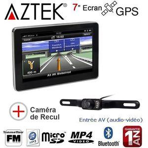 GPS AUTO  AZTEK® GPS AUTO 7 Pouces 8GO avec Caméra de Recul