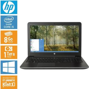 ORDINATEUR PORTABLE HP ZBOOK 15 core i5 8 go ram 1 To disque dur , ord
