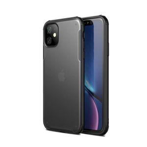 COQUE - BUMPER Coque iPhone 11,Noir Ultra Slim Transparent Antich