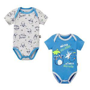 BODY Lot de 2 bodies bébé garçon manches courtes Ramoll