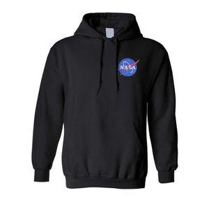 SWEATSHIRT Sweatshirt JB7Q2 NASA sweat à capuche brodé Espace